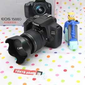 Canon 1500D  Lensa Kit BNOB kondisi Gress