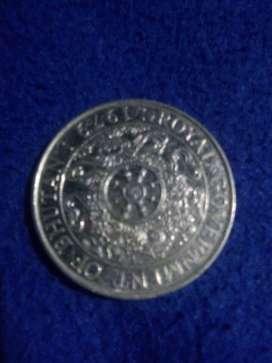 Old 1979 coin of Bhutan.