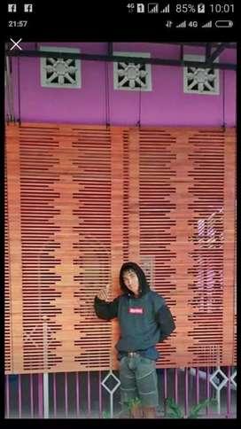 Tirai kayu motif,Tirai Rotan,Tirai bambu isi,kukit bambu