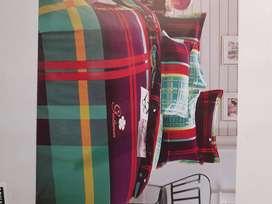Flat 50% off New bedsheet, curtain, cushion cover curtain , doormat