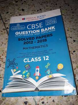 OSWAAL CBSE MATHS 6 Years Fully Solved Question Bank 2018-2019 Edition