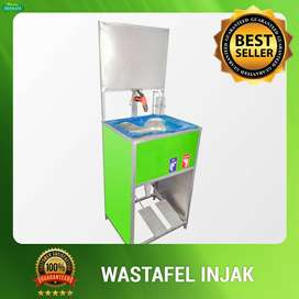 Wastafel Portable Injak Logo