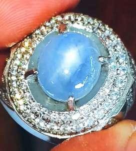 Batu Permata Natural Blue Safir Star Srilangka