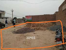 30*65 size plot with 2 side road facing & cornar plot