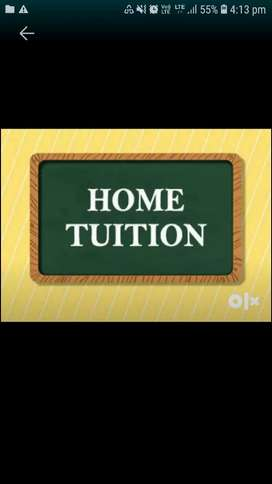HOME TUITION- Physical (not online) STD 1-9(All syllabus)