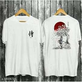 Kaos Pria Distro Samurai Sakura Sunset WHITE