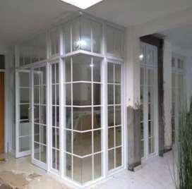 Pintu alumunium kaca dan jendela rumah kaca
