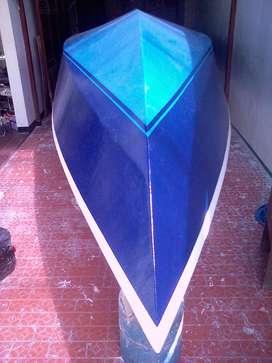 Perahu fiber boat  p 8m l 2.10 fiber