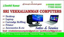 Desktop and laptop sales and service at lowest os at Rs 300