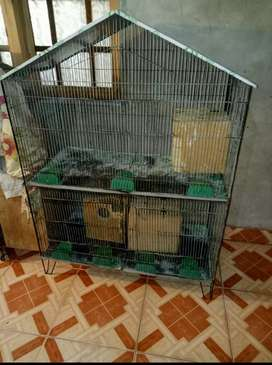 2 portion cage with 3 boxes for sale