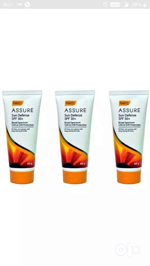 Assure Sun defense cream  and other products@ half price 0