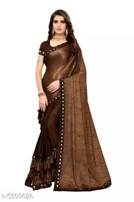 Beautiful Lycra blend women's sarees