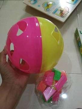 Puzzle Ball Bola Pintar Bentuk warna