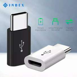 《BARU》 INBEX Adapter Converter to Type-C dari Kabel Micro USB