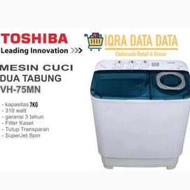 MESIN CUCI TOSHIBA 2 tabung -7 kg -Garansi 5 tahun