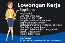 Dibutuhkan Segera, Sales Pria/Wanita