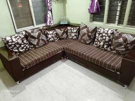 Brown colour sofa