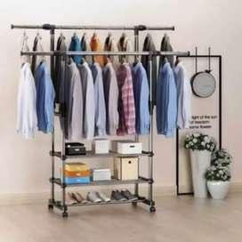 Stand hanger triple rack
