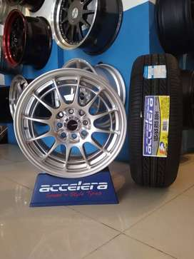 Velg racing ring 15 &ban accelera ECO plush 185/60/15