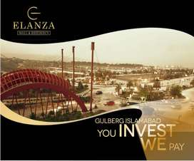 1 Bed Apartment For Sale Elanza Mall & Residency Gulberg