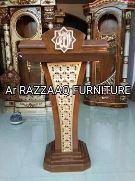 Mimbar kayu jati Ar Razzaq -0125