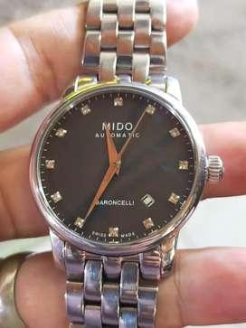 MIDO Baroncelli Black dial Berlian M86004681