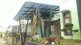 Canopy hollow galvanis atap spandek plus peredam
