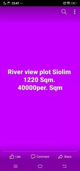 Siolim Goa River view prime plot Area 1220 Sq.mtr