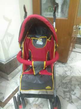 Stroller/Buggy, Compact & Foldable, for Baby/Toddlers 6-36 months, Red