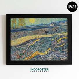 IP498 Poster Lukisan Van Gogh Asylum Window 40x30cm