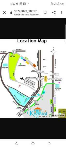 5 Marla plot file sale In khanial homes near New airport Islamabad .