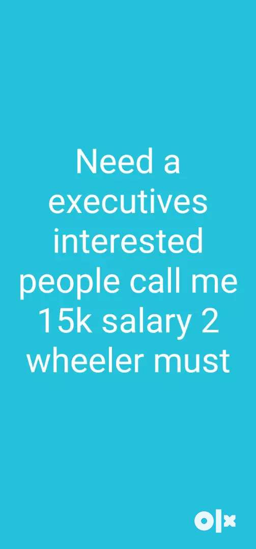 Need field sales excutives