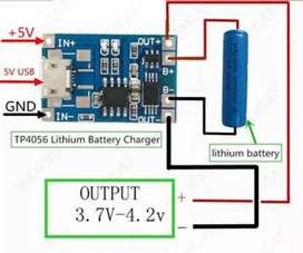 2 piece TP4056 charging protection module