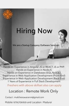 Web Developer / Full Stack Developer needed