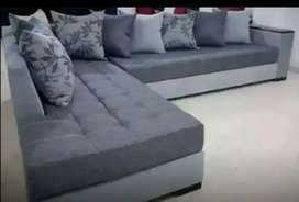 10 year foam L shape sofa set only 26999