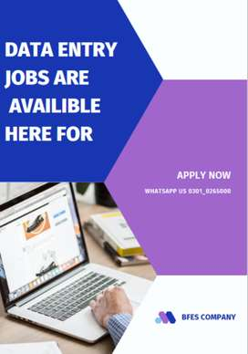 Present data entry jobs are available and apply it now earn cash