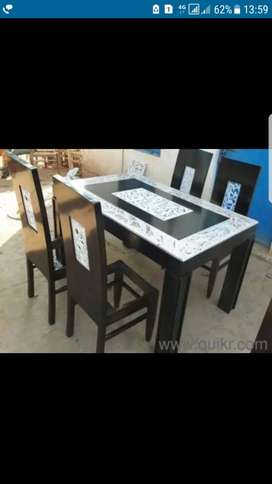 New Luxury Teakwood Dining Table 6 chairs@Unbelievable Price 22499/-