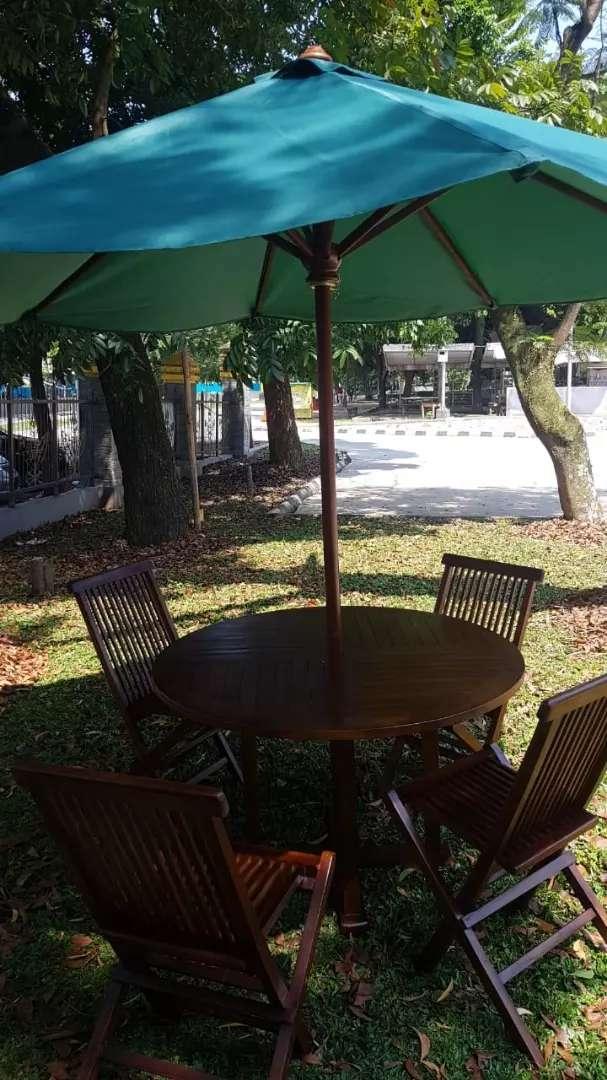 Meja payung,meja cafe,meja taman,kursi jati,meja outdoor,meja parasol
