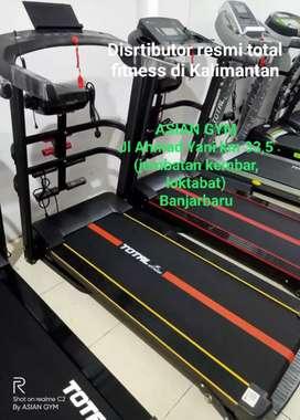 Ready treadmill listrik multifungsi + 2 dumbel