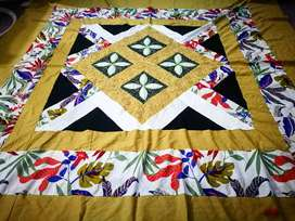 APPLIC/RIBBON/EMBROIDERED BEDSHEET
