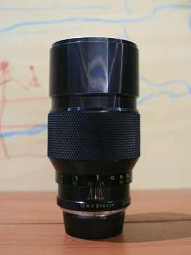 soligor mc 200mm f2.8 lensa manual mount pentax pk