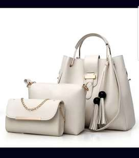 Ladies Hand-Bags Import Quality 3pcs