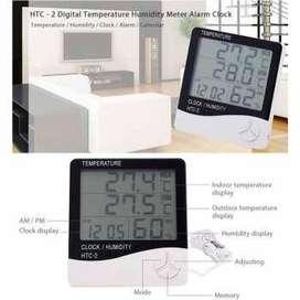 Digital Temperature Humidity Meter Clock Alarm Calender