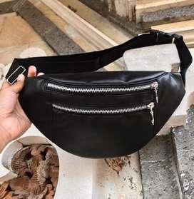 Waistbag / kompek kulit PU Premium