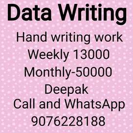 Good hand writing paper work weekly 12,000