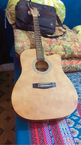 Acoustic Guitar(Brown Mate Color) Stylish