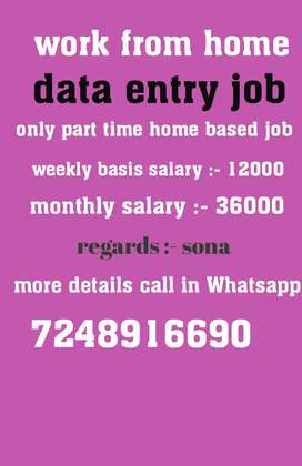 Only copy paste job weekly basis salary 12000