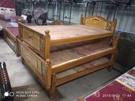 Y r k brand new take wood .5x6.3 queen size  Cot