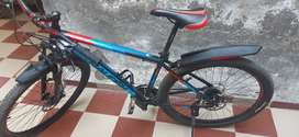 Raleigh cycle top model colour red black and blue size 29 inch