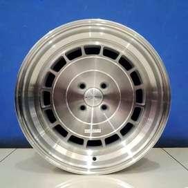 Cicil Velg Mobil Lancer DP 10% Ring 16 HSR VEC-T H4X100 Silver